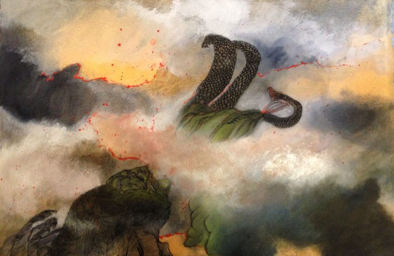 paysage imaginaire dragon